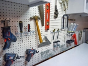 Power tools and garage organization
