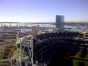 San Diego Bay Coronado Bridge and Petco Park