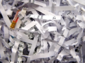 Shred documents for protection